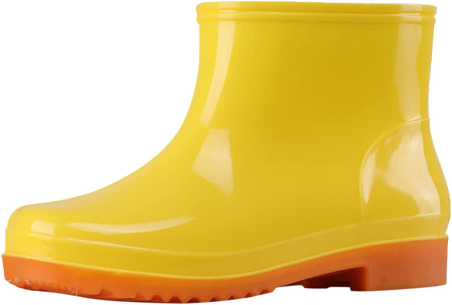 USYFAKGH Women's Rain Boots Waterproof Rubber Rain Shoes for Ladies Mid Calf Garden Boots with Comfort Insole