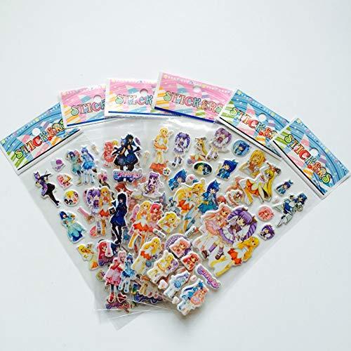 PMSMT 6 Unids/Lote Bubble Stickers 3D Cartoon Magic FairyClassic Toys Scrapbook para niños Regalo de niños