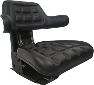 Concentric Black Waffle Style Universal Tractor Suspension Seat, Multi-Angle Base for Ford/New Holland 2000, 2610, 2910,3000,3010, 3600, 3610, 3900, 3910, 4000, 4100, 4110, 4600