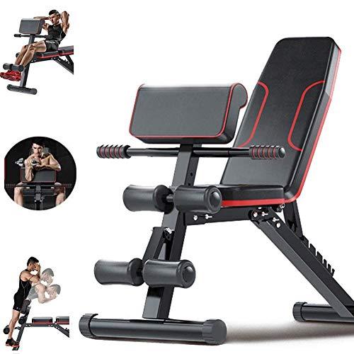 LJBOZ Banc de Musculation Pliable Multifonction Plat Inclinaison Déclin Aptitude Faire du Sport Maison Exercice pour Les Hyper Extensions