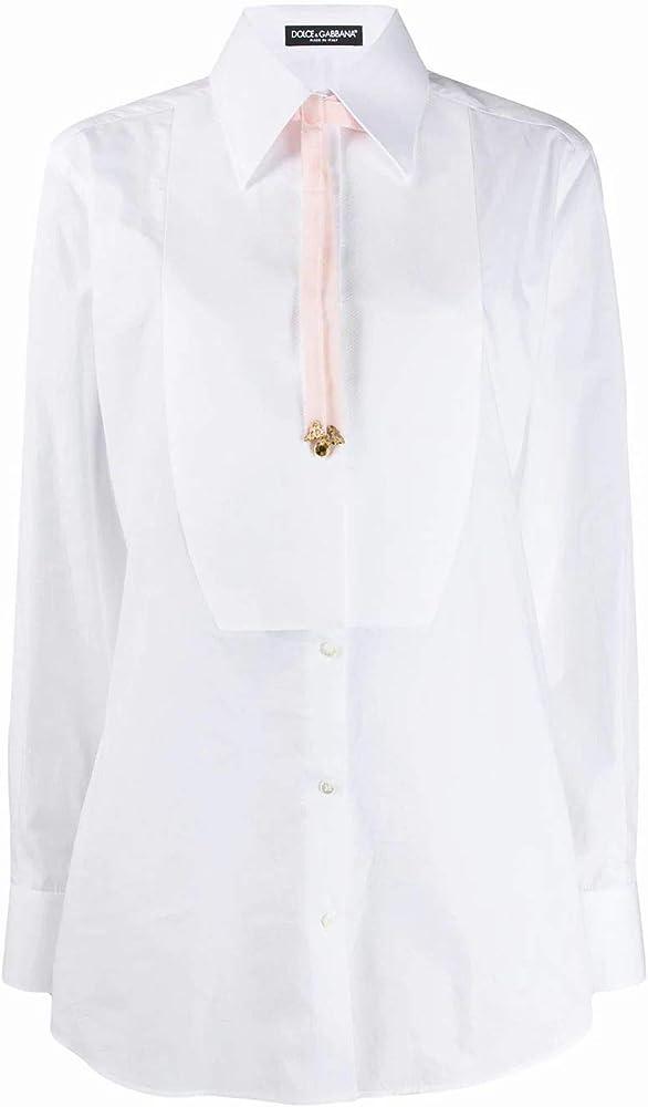 Dolce & gabbana luxury fashion,camicia per donna,manica lunga ,in cotone al 100 % F5M20ZFU5K9S9004