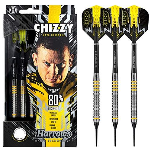 Harrows Soft Darts Dave Chisnall Chizzy 80% Tungsten Softtip Dart Softdart (20 Gr)