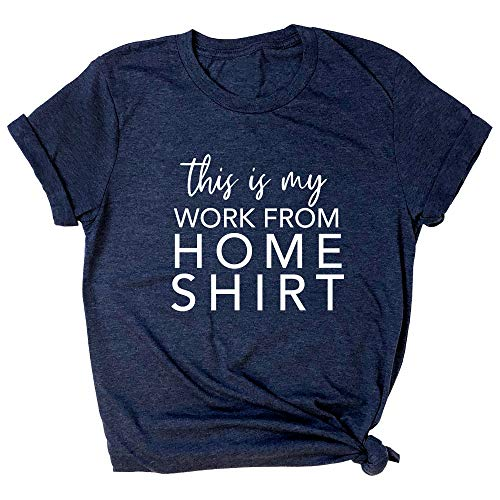 Spunky Pineapple This is My Work from Home Shirt Funny Quarantine Life Premium T-Shirt Navy