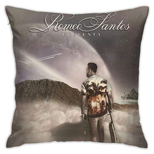 """Hdadwy """"Romeo Santos Utop"""" itin minkštas namų dekoravimo pagalvėlių užvalkalas svetainės miegamajam miegamajam 18 X 18 colių (45 X 45 cm)"""