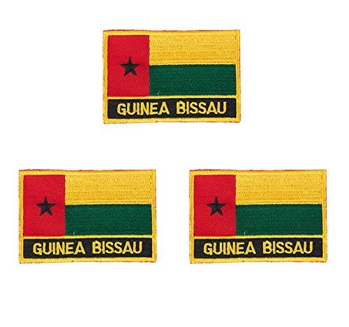Guinea-Bissau bestickte Flaggen-Emblem, zum Aufbügeln oder Aufnähen, 3 Stück