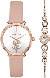 Women's Portia Three-Hand Rose Gold-Tone Stainless Steel Watch MK3863