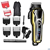 DHXX Herrenhaarschneider Trimmer LCD Display Bartschneider Haircut Shaver Maschine Kit Professional...