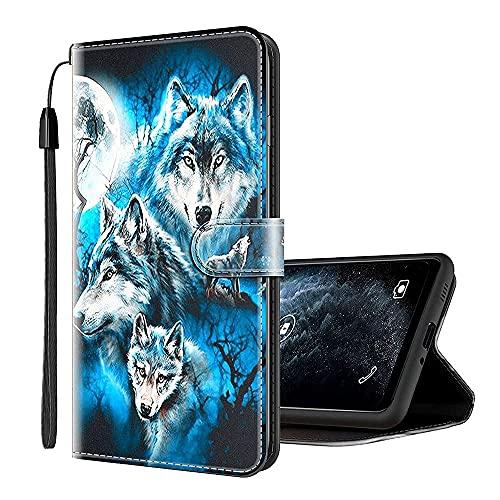 Sinyunron Handy Schutzhülle Kompatibel mit Huawei Honor View 10 Hülle Handy Tasche Hülle Handyhülle Lederhülle mit Kartenfächer,Ständer,Magnetverschluss,Hülle05C