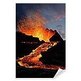 Postereck - 0129 - Vulkan Ausbruch, Natur Magma Naturgewalt