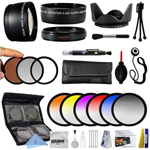 25 Piece Advanced Lens Package for Canon PowerShot G1X Digital Camera Includes 0.43X Fisheye Lens + 2.2X Telephoto Lens + 3 Piece Filters + 6 Piece Colored Graduated Filter Set