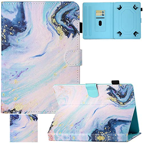 Artyond Universal Case for 9.0-10.1 Inch Tablet, Premium PU Leather Card Slots Multi-Angle Stand Case for Apple iPad/Samsung/Kindle/Huawei/Lenovo/Android 9.7 9.6 10.1 inch Tablet (Marble Sand)