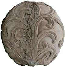 Urban Trends Cement Ornamental Sphere with Embossed Swirl Design SM Washed Finish, Gray