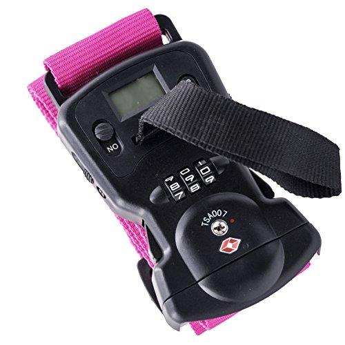 Sutekus 重量計・TSAロック付きスーツケースベルト ワンタッチ式スーツケースベルト TSAロック搭載 TSA認...