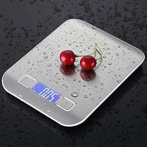 Iordan Balance de cuisine avec un poids maximal de 10 kg - Balance électronique professionnelle avec grand écran LCD - Précision merveilleuse, poids maximum