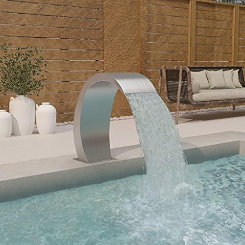 vidaXL Pool Wasserfall Brunnen Schwalldusche Schwallbrause Wasserfontäne Poolfontäne Wasserschwall Schwimmbad 30x60x70cm Edelstahl 304