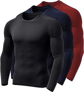 Kit 3 Camisas Térmicas BOYOU Blusa Esquenta Proteção UV 50 Fps Compressão 037