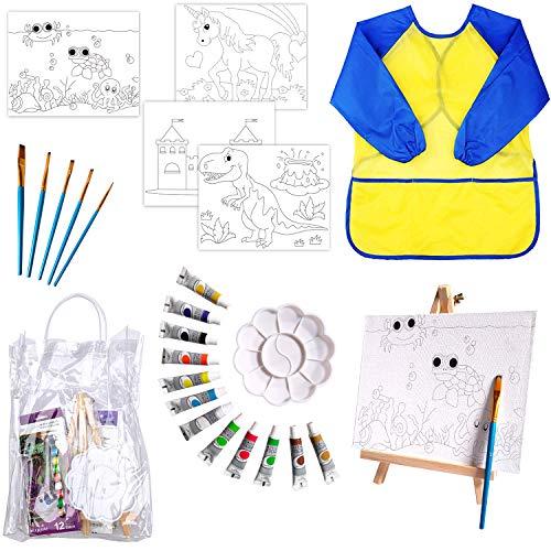Kids Art Set – 25 Piece Acrylic Painting Set Supplies Kit with Storage...