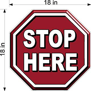 Stop Sign Shaped Stop HERE Wait to BE Called Floor Decal Pharmacy Doctors Office Multi Sizes Available (18