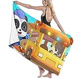XCNGG Baby-Bus Adultos Toalla de Playa de algodón de 31 'X 51' Cómodas Toallas de baño de Secado rápido