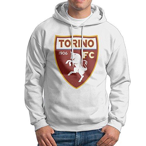 Men Torino F.C. Logo Custom Retro 100% Cotton Hoodie White Size S