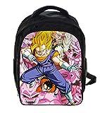 13 Inch Dragon Ball Z Sun Goku Backpack Niños Niños Mochilas Escolares Niños Niñas Mochilas Diarias Mochila para Estudiantes Regalo