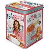 Nostalgic-Art 31301 Retro Teedose Tealicious & Tearrific – Nostalgie Geschenk-Idee, Aufbewahrung für losen Tee und Teebeutel, Vintage Design