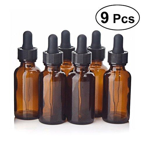 9 frascos de 30 ml ideales para aceites vegetales