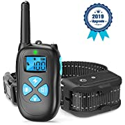 SEALODY Dog Training Collar - Rechargeable Dog Shock Collar / 3 Training Modes, Beep/Vibration/Shock, 100% Waterproof Training Collar, Up to 1450Ft Remote Range (1.0)