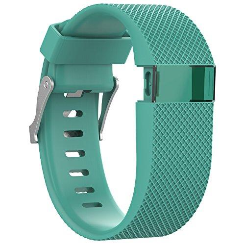 """Correa de silicona Awinner de repuesto para reloj de """"fitness"""" Fitbit Charge HR, color Cyan"""