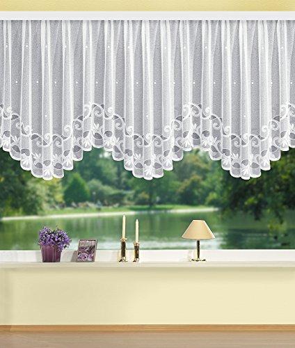 Home Fashion Bogenstore Jacquard, Stoff, weiß, 120 x 600 cm