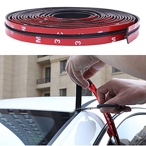 Automotive 23 Feet 14mm Car Windshield Weather Strip Seal Rubber Weather...