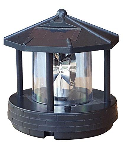 Ersatzkopf Solar f. Deko Leuchtturm Rundum Leuchtfeuer Solarkopf 360° 11cm NEU
