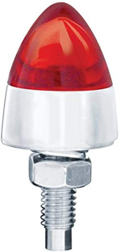 United Pacific LED Bullet License Max 58% OFF Dealing full price reduction Plate Red Fastener 2 - Pack