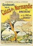 Vintage-Reiseposter, Frankreich für Normandy und Bretagne