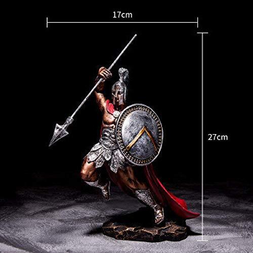 AMITD beeld sculptuur antieke room ornament sculptuur Spaans karakter standbeeld hars model Hero Home Spartaanse figuren Oorspronkelijke figuur decoreren handwerk, 8