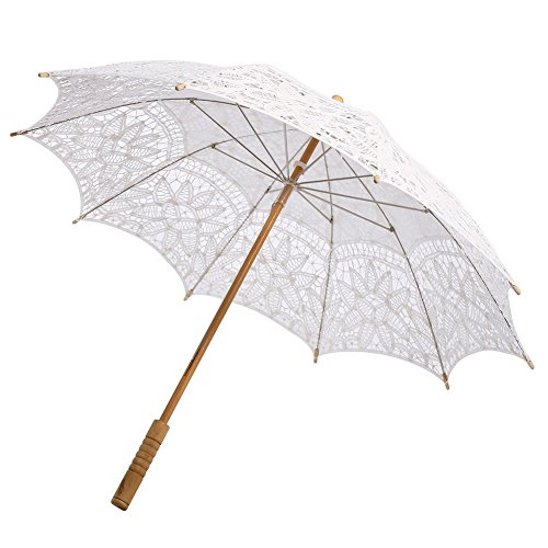 ESHOO Vintage Umbrella Cotton Lace Parasol Bridal Wedding Party Decoration