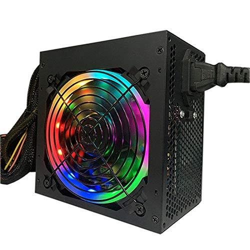KOIJWWF Potencia para PC de 450 W con Ventilador Negro silencioso de 12 cm/para PC, Tarjeta gráfica de Juego de Soporte 580