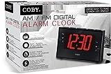 Coby CBCR-103-BLK Digital Alarm Clock with AM/FM Radio and Dual Alarm (Black)
