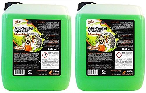 2x 5L 5 Liter TUGA Alu-Teufel Spezial Felgenreiniger Aktivgel säurefrei GRÜN
