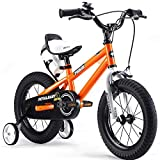 Royalbaby Unisex Youth Freestyle boy's girl's stabilisers Kids Children Child Bike Bicycle, Orange, 12""