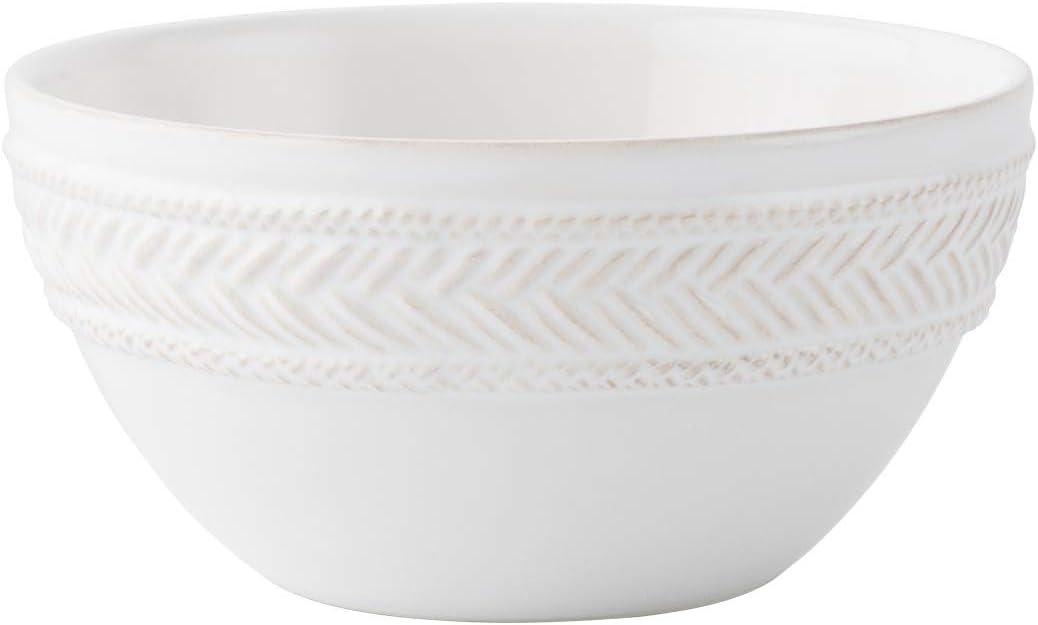 2021 Juliska Le gift Panier Whitewash Cream Bowl Cereal Ice