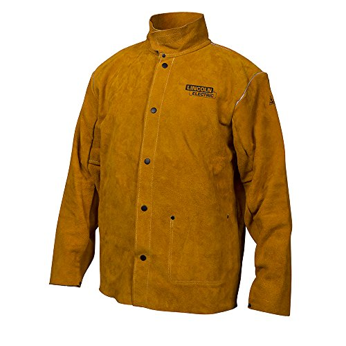 Lincoln Electric Brown X-Large Flame-Resistant Heavy Duty Leather Welding Jacket