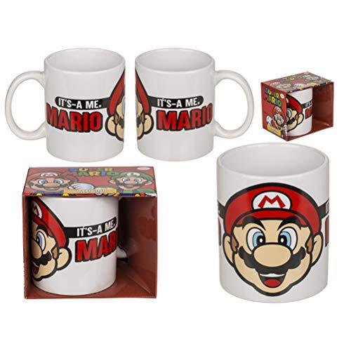 ootb Taza de cerámica con diseño de Super Mario III (325 ml, 10 cm de alto)