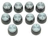 kaish 10 Gitarre AMP Verstärker Push auf Passform Knöpfe Schwarz W/Silber Gap für Marshall Verstärker