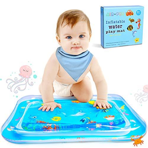 Estera Inflable de Agua Bebé Alfombra Inflable con Agua PVC Grueso, Inflatable Baby Water Mat Estera del Juego del Agua para Bebés y Niños, Juego de Esterilla de Agua 66 * 50cm