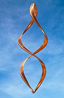 Handcrafted Gemini Copper Wind Sculpture by American Artist Neil Sater, 18 in