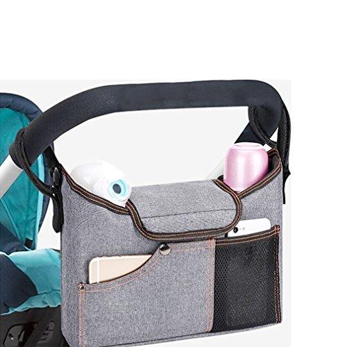 Chenqi Landau Organisateur, Sac Landau Bébé Buggy Couches Universel Multifonction Sac De Rangement Zipper Poussette Accessoire étanche