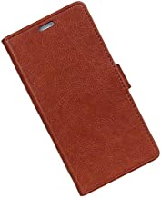 Leather Flip Fold Phone Case Card Holder Wallet Anti-scratch Protective Stand Cover for for ASUS ZenFone Max M1 (ZB555KL) (Black) (Light Brown)