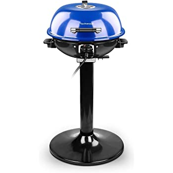 Techwood 15-Serving Electric Grill Indoor/Outdoor Electric BBQ Grill, 240'' Nonstick Removable Stand Grill 1600W, Blue