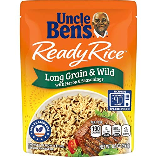 UNCLE BEN'S Ready Rice: Long Grain & Wild ,8.8 Ounce, Pack of 12